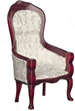 Melody Jane Dollhouse Victorian Mahogany White Gents Chair Miniature Living Room Furniture