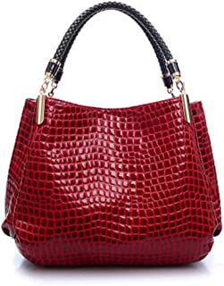 Women's Handbag, Crocodile Pattern Shoulder Bag, Large Capacity, high Quality Leather Surface, Practical Retro Elegant and Generous, Suitable for Travel, Shopping,Red