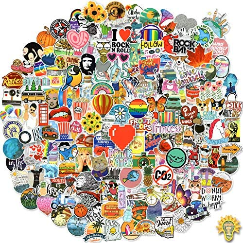 200 Pcs Fashion Random Stickers Pack Cool Vinyl Sticker Waterproof Laptop Decals for Teens Adults product image