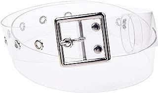 PPX Mujeres Cintur/ón Joker Resina De Pl/ástico Transparente Cintur/ón Forma Redonda Hebilla Cintur/ón Jeans Accesorios Cinturones de ojal con forma de coraz/ón//redondo//cuadrado