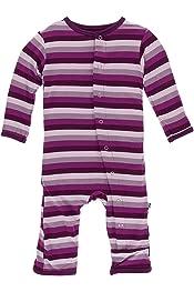 Kickee Pants Baby Girls Print Footie Prd-kpf173-nst