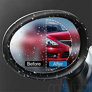 Tpingfe Car Rearview Mirror Protective Film, Car Anti Water Mist Film Anti Fog Nano Coating Rainproof Rearview Mirror Window Protective Film, 1 pair