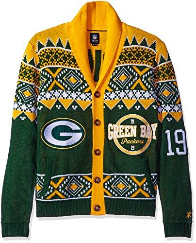 Green Bay Packers 2015 Ugly Cardigan Medium