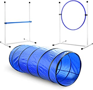 Better Sporting Dogs 3 Piece Essential Dog Agility Equipment Set   Agility Jump   Tire Jump   Tunnel