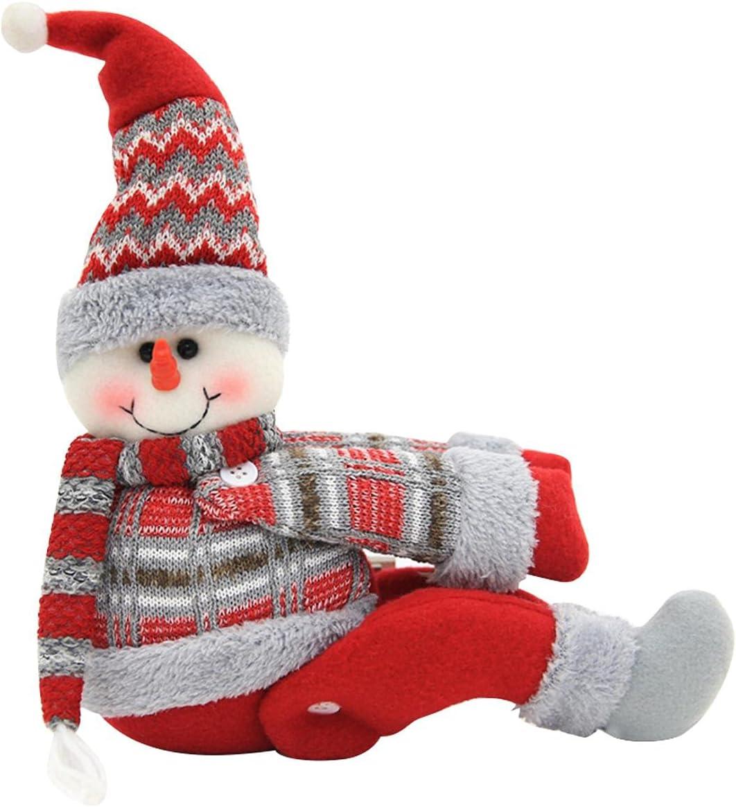 AUTUUCKEE Juego de 2 alzapaños para cortina de Navidad, diseño de muñeco de nieve o alce de Papá Noel, abrazadera de hebilla para decoración de ventanas del hogar, adornos de Navidad (hombre de noche)