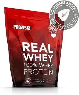 Prozis Natural Real Whey Protein, Proteina en polvo, enriquecido con BCAA para Crecimiento Muscular y Recuperación, óptimo para culturismo, Vainilla - 1000 g