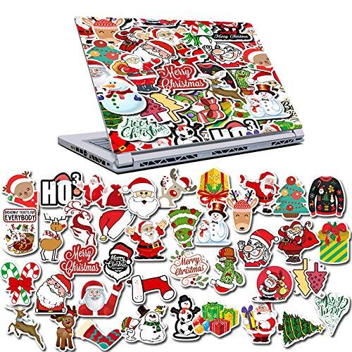 TTBH 50 Cartoon Christmas Fun Snowman Sticker Luggage Box Refrigerator Computer Kids Cute Graffiti Stickers Waterproof