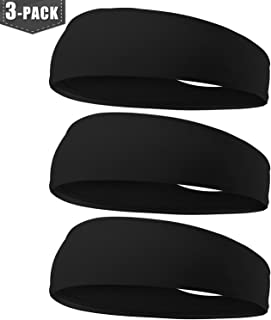 EasYoung Mens Headbands, 2-Pack Sport Sweatband for Running Yoga Working Out Gym Exercise, Unisex Fitness Headbands for Wo...