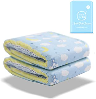 LittleForBig Printed Adult Brief Diapers Adult Baby Diaper Lover ABDL 2 Pieces - Little Dreamers(M)