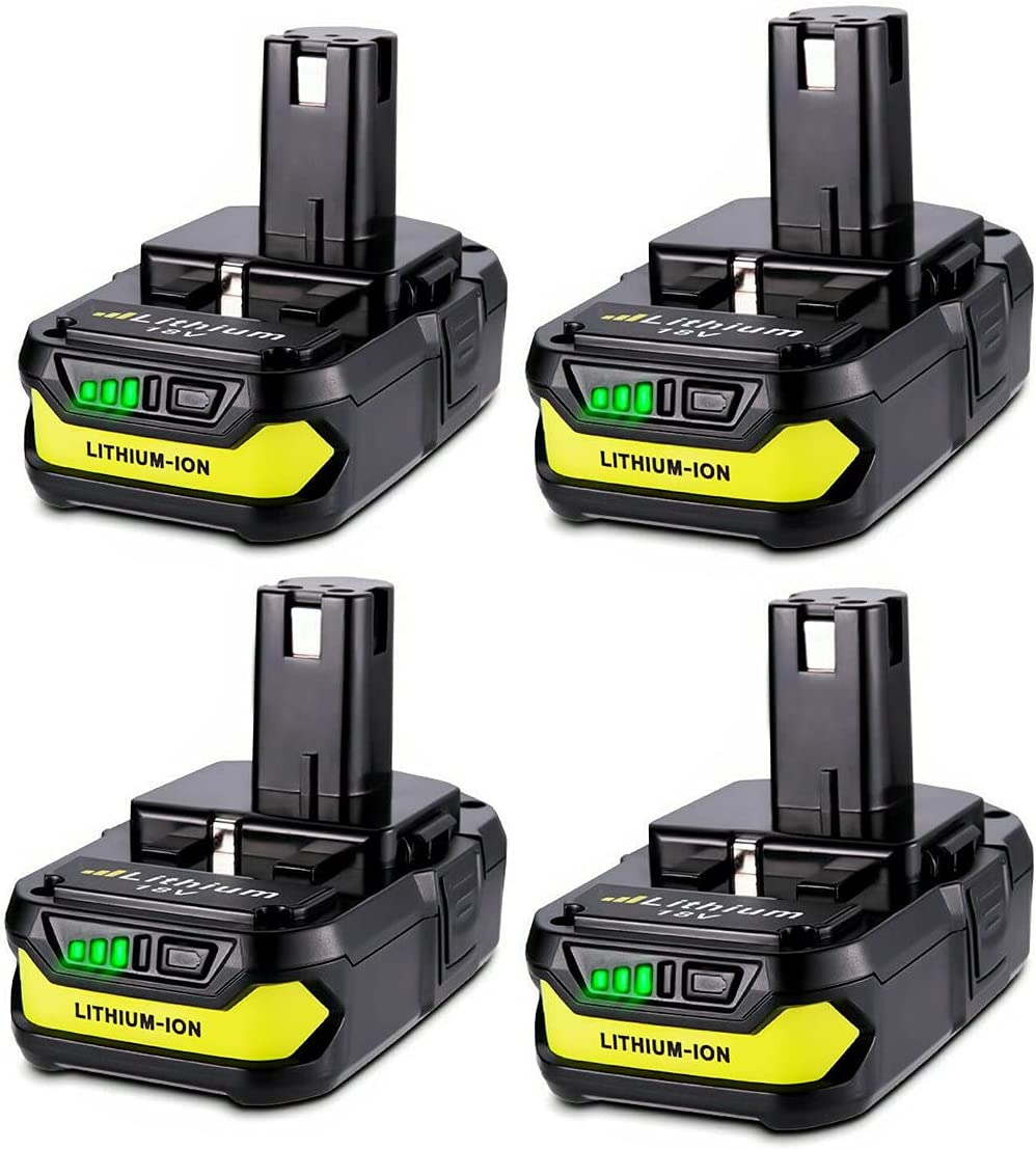 Fashionable 4 Packs 18V P102 Indefinitely 2.5Ah Replacement for Lithi Ryobi Batteries