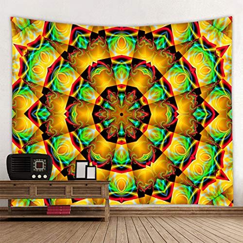 N/A Tapices 3D Impresión Tapiz de Mandala Indio Tapiz de Pared de Arena de Playa Tienda de campaña Colchón de Viaje Tapiz de Mandala Tela de Fondo de Estilo Bohemio Regalos de decoración del hogar