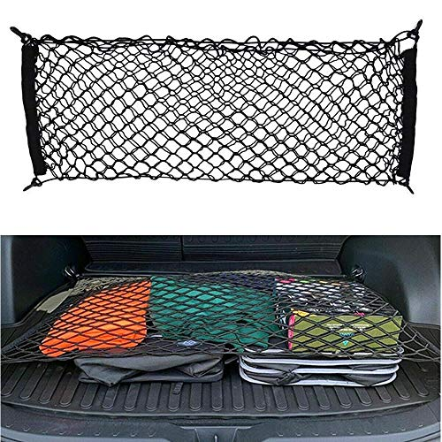 Floor Style Trunk Cargo Net for Toyota RAV4 2013 2014 2015 2016 2017 2018 2019 2020 New 31 x 24 Inches with 4 Mounting Hooks