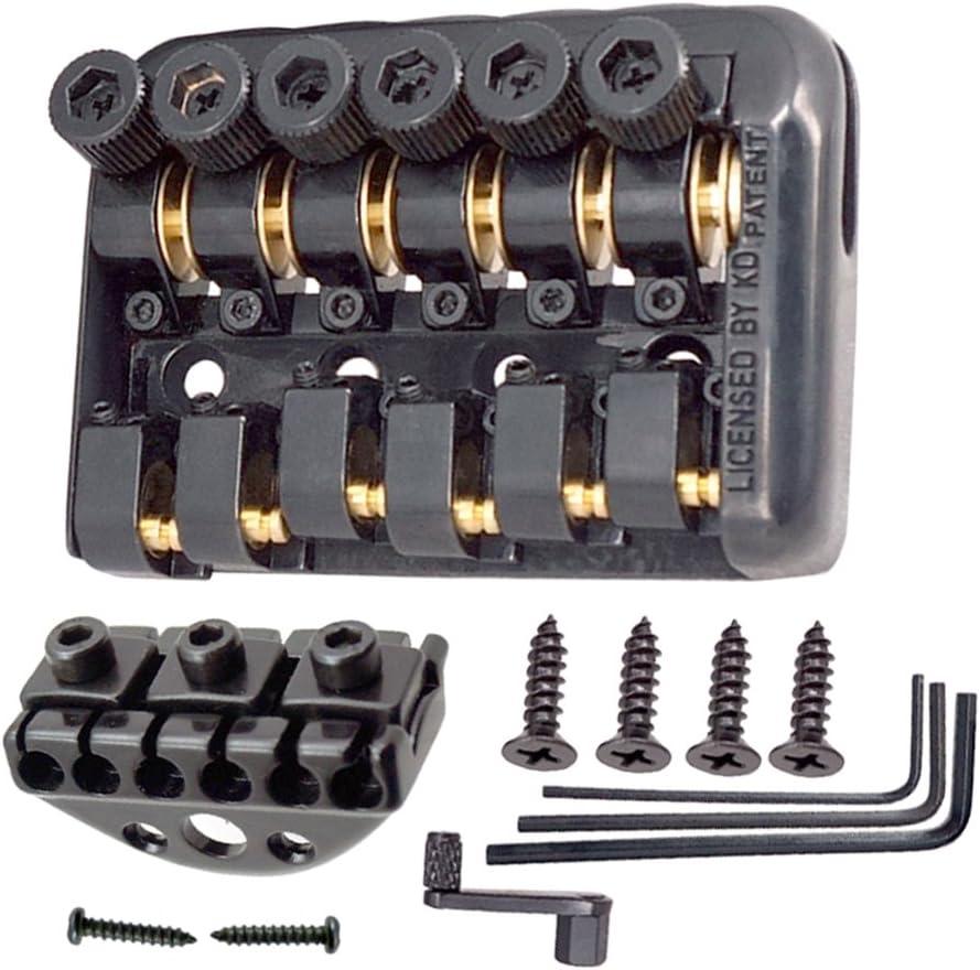 1 Juego 6 Cuerdas Roller Saddle Bridge Para La Guitarra Eléctrica Sin Cabeza DIY