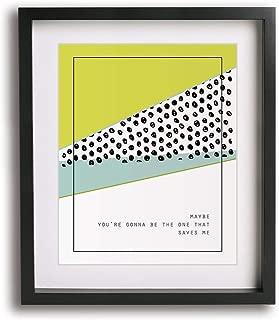 Wonderwall by Oasis inspired song lyric art print