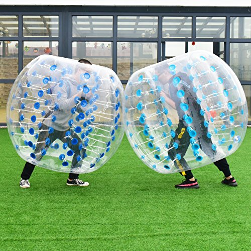 Giant Human Hamster Bumper Soccer Ball 8mm Thickness Transparent PVC Zorb Ball for Kids Dia 5ft Teens Outdoor Team Gaming Play 1.5m Costzon Inflatable Bubble Ball