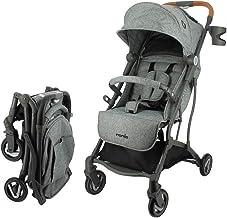 Silla de paseo CASSY ligera y compacta - Plegable con una Mano (gris)