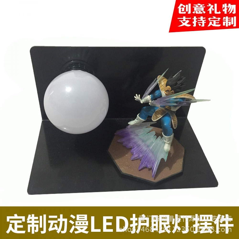 CXQ Dragon Ball Sun Wukong handgefertigte kreative Tischlampe führte Schreibtischlampe Auge Lampe leuchtende Spielzeug kreative Beleuchtung, Dragon Ball Qigong Bombe 02