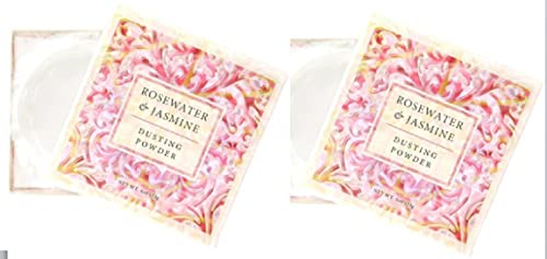 Greenwich Bay Trading Co. Dusting Powder, 4 Ounce (Set of Two Rosewater Jasmine)