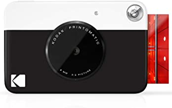 "KODAK Printomatic Digital Instant Print Camera - Full Color Prints On ZINK 2x3"" Sticky-Backed Photo Paper (Black) Print Me..."