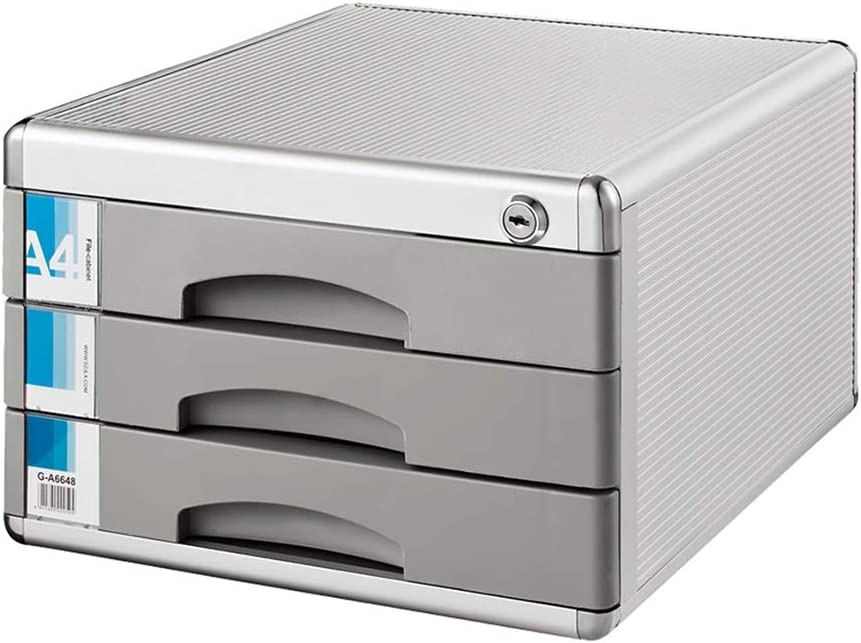 Max 65% OFF YonCog Easy to Organize File Very popular Cabinets 3-Layer Loc Desktop Drawer