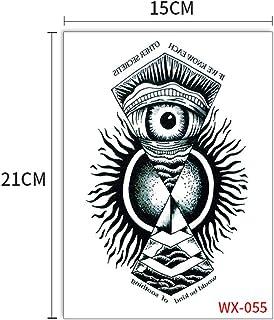 Handaxian 5 unids-Brazo mecánico Tatuaje Pegatina Flor Brazo de Encaje águila Sol Wukong Geisha Tatuaje Gran Figura Tatuaje Pegatina 5pcs-11