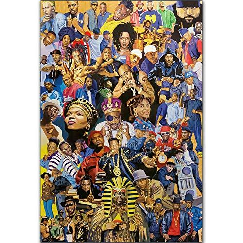 Rapper Stars Hip Hop Legends Collage Hot Poster Music Singer - No Frame (24x36)
