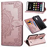 Custodia® 3D Relief Painting Flip Billetera Funda para ZTE Blade V7...