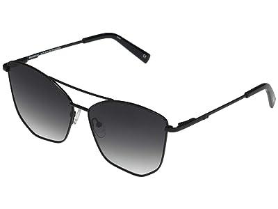 Le Specs Primeval Alt Fit (Black/Smoke Gradient) Fashion Sunglasses
