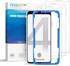 Pleson Google Pixel 4 Screen Protector [Easy Install] [Lifetime Replacement][Case Friendly][3 Pack] Full Coverage/Bubble Free/HD Clear Tempered Glass Screen Protector Film for Google Pixel 4-2019