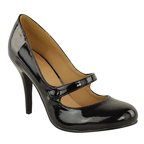 effc1ebafa27 LADIES WOMENS LOW MID HIGH HEEL ANKLE STRAP COURT SHOES WORK PUMPS SANDALS  SIZE