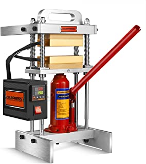 4 Ton 3x5 Inch Hydraulic Jack Heat Press Machine - Upgrade from 3-ton 3x3 Inch Complete Heat Press Plates Kit - 500 Watts - Dual Heated Platens - Accurate Temp Detected