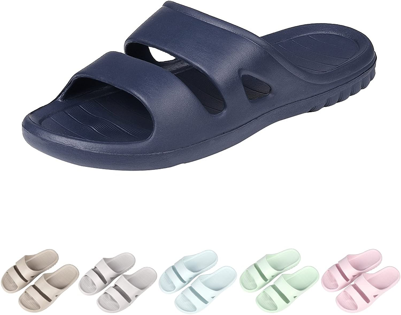 Shevalues Women's Shower Pool Sandal Slippers Soft Ultra Lightweight Bath Slippers 29NV-X