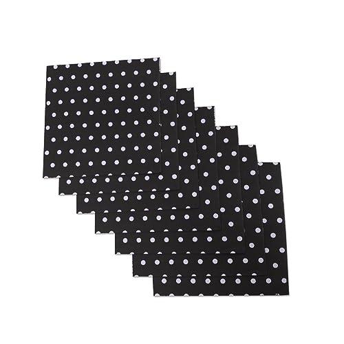 "Black and White Polka Dot Party Napkins 6.5/"" X 6.5/"" Premium... 40 Count"