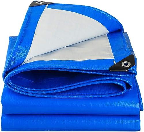 QYQPB De Plein air Bache imperméable extérieure épaisse de Toile de Tente de Pluie en Plastique 160 g mètre carré  0,28 mm de bache Filet d'ombrage (Taille   5m6m)