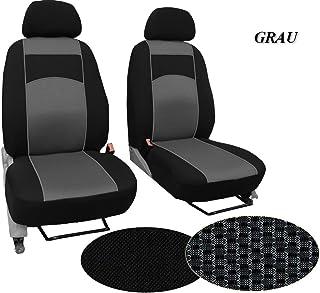 POK TER BUS Maßgefertigter Sitzbezug, Modellspezifischer Sitzbezug Fahrersitz + Beifahrersitz Für VW T6 MULTIVAN. Super Qualität, STOFFART VIP. in Diesem Angebot Grau (Muster im Foto).