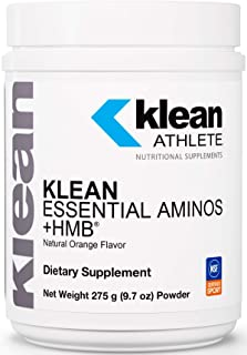 Klean Athlete - Klean Essential Aminos +HMB - Blend of Essential Amino Acids with HMB, Vitamin D3, and Glutamine for Lean Muscle Mass* - 275 Gram Powder