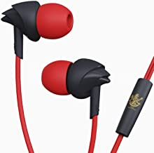 boAt Bassheads 100 in Ear Wired Earphones with Mic(RCB Raging Red)