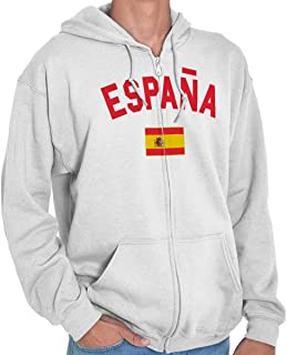 Brisco Brands Espana Country Flag Soccer Fan Spain Pride Crewneck Sweatshirt