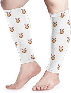 Cute Sphynx Cat in Cardboard Box Unisex Calf Compression Sleeve - Leg Compression Socks for Running, Shin Splint, Calf Pain Relief, Leg Support Sleeve
