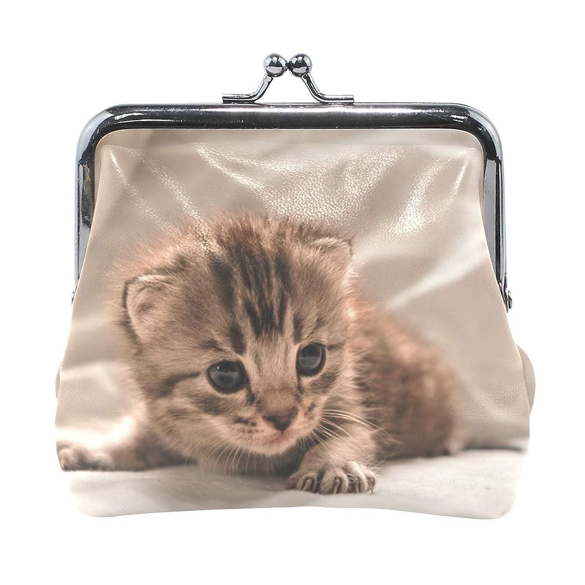 フォアタイプ複雑世界的にがま口 財布 口金 小銭入れ ポーチ 動物 猫 可愛い ANNSIN バッグ かわいい 高級レザー レディース プレゼント ほど良いサイズ