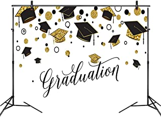 LB Graduation Party Backdrop for Photography Class of 2019 Congrats Grad and Graduation Cap Design Photo Booth Backdrop 9x6ft Fabric Customized Photo Backgrounds Studio Props