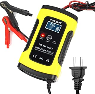 IEIK 12V 5 Amp Automotive Smart Battery Charger Maintainer for Car, Motorcycle, RV, SUV, Lawn Mower, Boat, RV, SUV, ATV an...