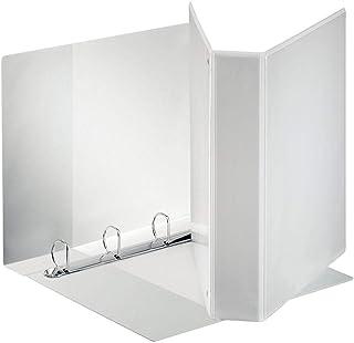 Esselte Classeur à couverture personnalisable sur trois faces PP blanc dos de 7,5 cm
