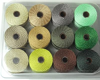 12 Super-lon #18 Cord Ideal for Stringing Beading Crochet and Micro-macram Jewelry Compatible with Kumihimo Projects S-lon Summer Mix