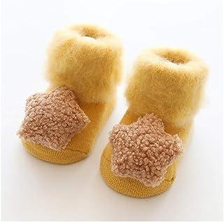 XYAN, XYAN 2pcs Invierno el Terciopelo Que Espesa recién Nacido Calcetines del bebé Nacido Bebé Niñas Niños Calcetines Anti Slip Suaves Calcetines de bebé Ropa de Abrigo Accesorios