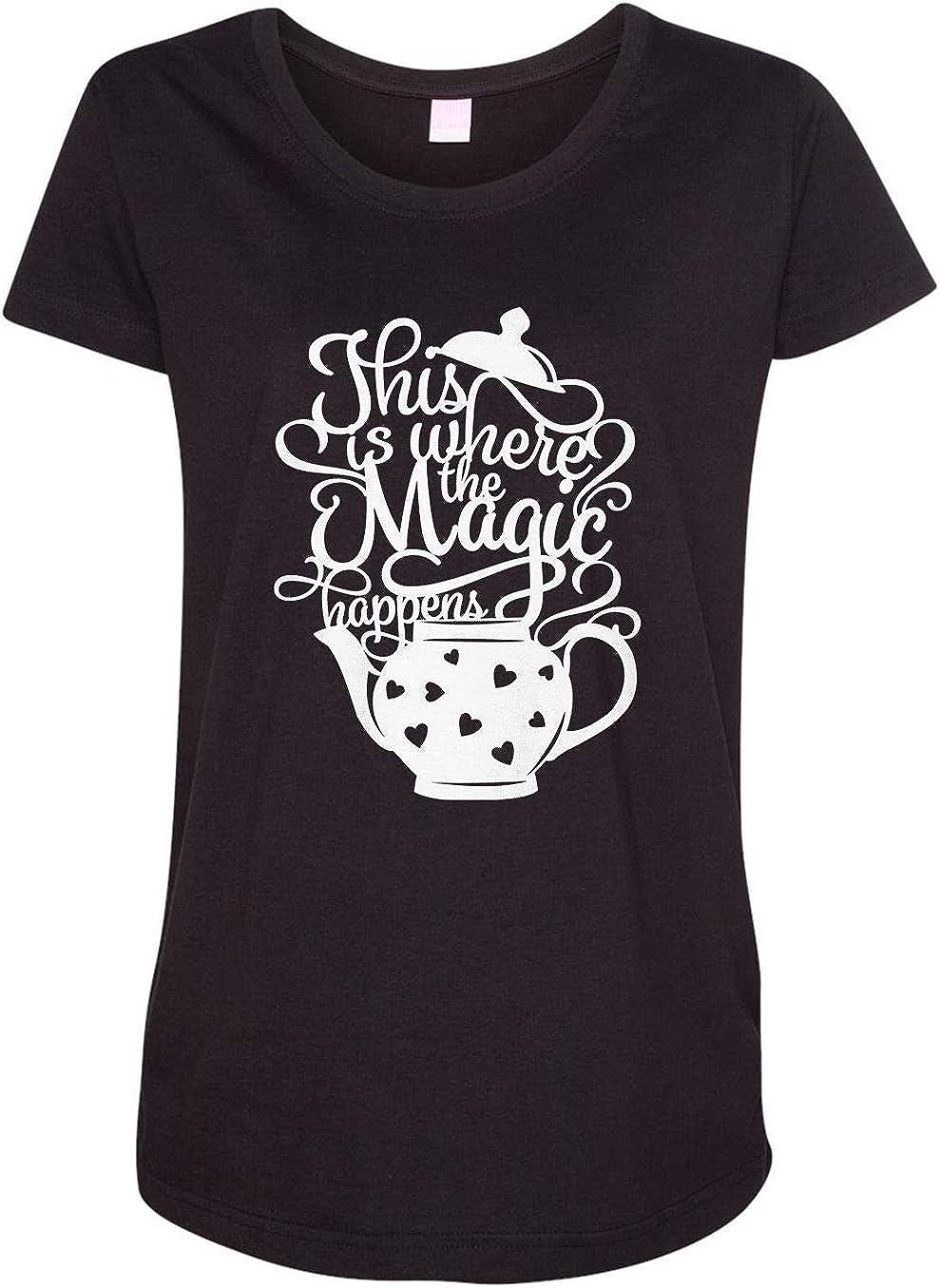 HARD EDGE DESIGN Women's Tea This is Where The Magic Happens T-Shirt