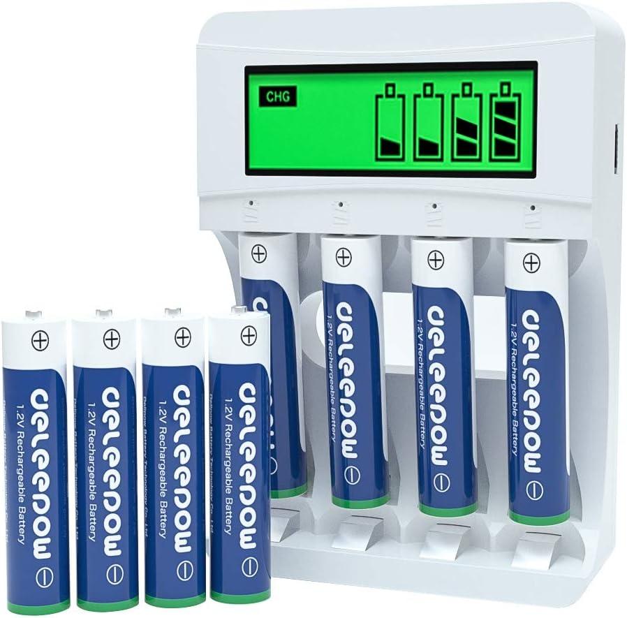 Deleepow AAA Ni-MH 1100mAh Battery (8-Pieces) $11.99 Coupon