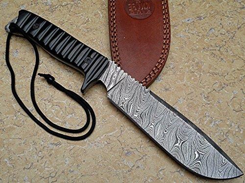 Asaz Custom Damast Bowie Messer Jagdmesser Mit Lederscheide