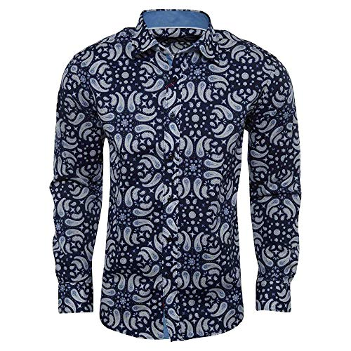 Elie Balleh Milano Italy Blue Boy's 2016 Style Slim Fit Button Down Shirt