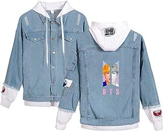 Kpop BTS Denim Jacket Love Yourself Pullover Jimin SUGA V Sweatshirt Hoodie Coat